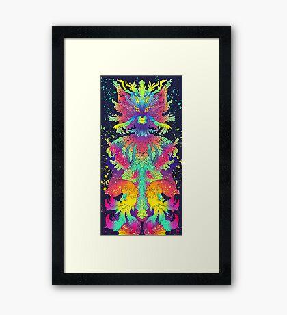 Neon Critter Framed Print