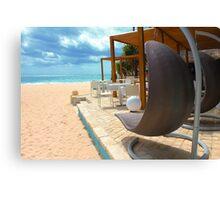 Beach bar in Punta Cana Canvas Print