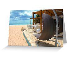 Beach bar in Punta Cana Greeting Card