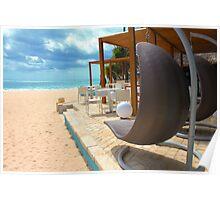 Beach bar in Punta Cana Poster
