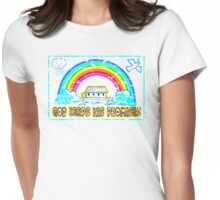 GOD KEEPS HIS PROMISES Womens Fitted T-Shirt