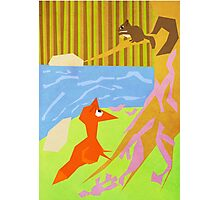 The Fox And Squirrel Photographic Print