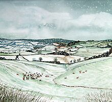 """First Fallen Snows of Winter"" - The Quantock Hills, Somerset by Timothy Smith"