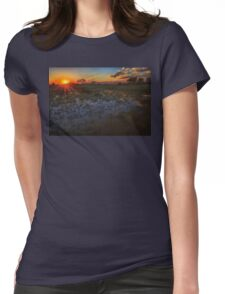 Reflecting on a Duba Plains sunset Womens Fitted T-Shirt