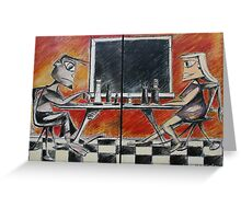 The Chess Game Greeting Card