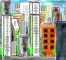 City Scape by Melissa Park