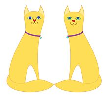 A Pair Of Kitty Cats by Jean Gregory  Evans