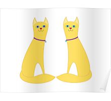 A Pair Of Kitty Cats Poster