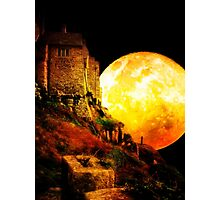Full Moon Over St Michael's Mount Photographic Print
