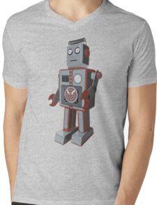 Vintage Robot Mens V-Neck T-Shirt