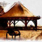 Orillia - Park Bench & Gazebo by Gracey