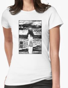 Uzumaki – Sea Womens Fitted T-Shirt
