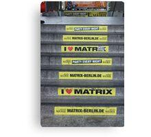 I Love Matrix Canvas Print