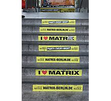 I Love Matrix Photographic Print