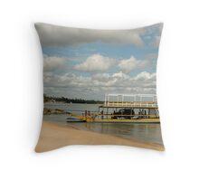 Ferry Across The Lagoon Throw Pillow