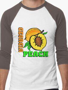 GEORGIA PEACH Men's Baseball ¾ T-Shirt