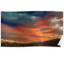 Sunset on the Western Macdonnell Ranges Poster