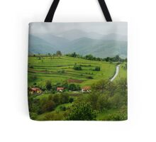 Village on the road, Romania Tote Bag