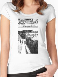 A Girl by the Sea – Rain Women's Fitted Scoop T-Shirt