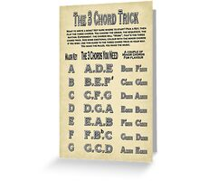 The Three Chord Trick Greeting Card