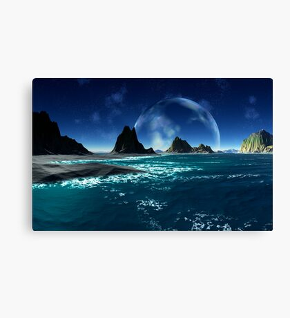 Rising of The Blue Canvas Print