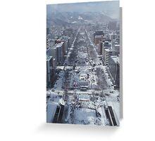 Snow – Japanese City Greeting Card