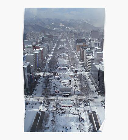 Snow – Japanese City Poster
