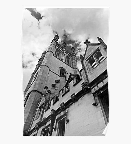 Magdalen tower, High Street, Oxford, UK Poster
