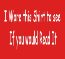 Shirt to Read by Spyder761
