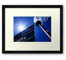 Sun Building Lamp Architecture Architectural Prints on Sale Framed Print