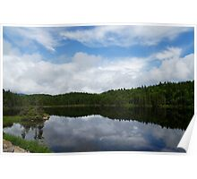 Calm Lake, Turbulent Sky Poster