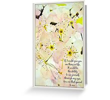 Watercolored Dogwood Daydreams Greeting Card