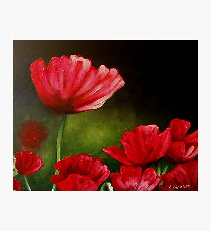 Red Poppies... Photographic Print