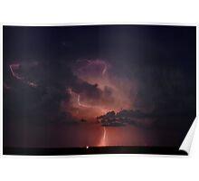 Lightning Cloud over Western Oklahoma Poster