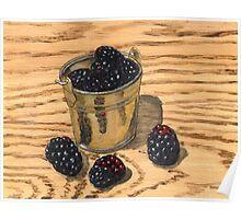 (Mini) Jugful of Blackberries Poster