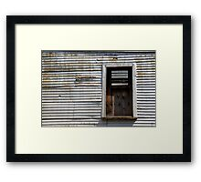 Rusted Facade Framed Print