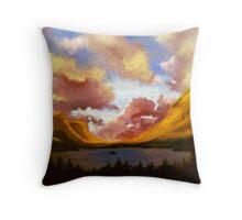 Purple Cloud Landscape Throw Pillow