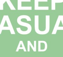 A Casual Classic iconic Keep Calm inspired t-shirt design Sticker