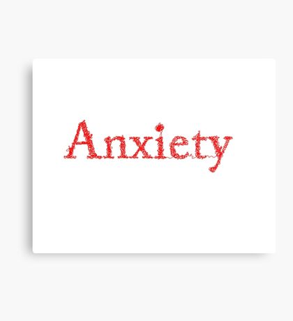 Hello, my name is: Anxiety Canvas Print