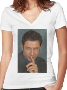 Jeff Goldblum Women's Fitted V-Neck T-Shirt