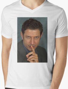 Jeff Goldblum Mens V-Neck T-Shirt