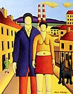 The Couple by power station by Alan Kenny