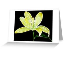Lemon Lily Greeting Card