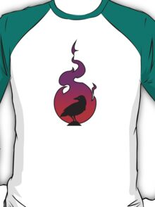 Crow In Sunset Flame T-Shirt