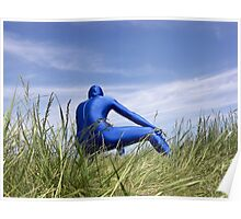 Blue Zentai in the Field 8 Poster