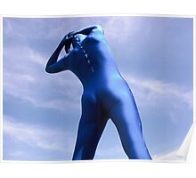 Blue Zentai in the Field 9 Poster