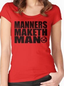 Manners Maketh Man - The Kingsman Movie - The Kingsman The Secret Service Women's Fitted Scoop T-Shirt