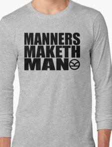 Manners Maketh Man - The Kingsman Movie - The Kingsman The Secret Service Long Sleeve T-Shirt