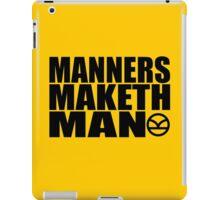 Manners Maketh Man - The Kingsman Movie - The Kingsman The Secret Service iPad Case/Skin