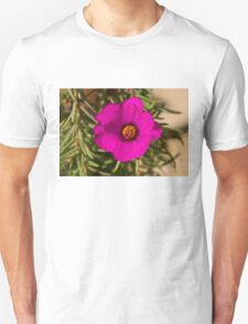 Happily, Vibrantly Pink With a Golden Yellow Center Unisex T-Shirt